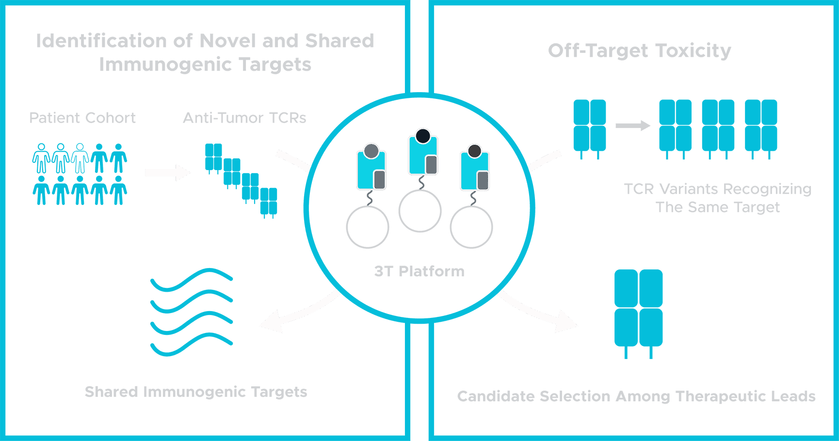 3T Biosciences Path ID Novel Targets Graphic Blue Icons